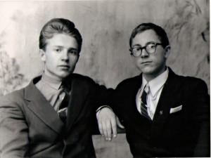 Вячеслав Сухнев в 15 лет с товарищем Николаем Моисеенко