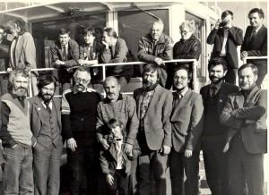 Дни советской литературы в Красноярске. На верхней палубе – В. П. Астафьев. 1987