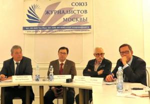 В. Ю. Сухнев на мероприятии в Союзе журналистов Москвы. 2014 г.