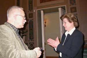 В. Ю. Сухнев на интервью с В. В. Терешковой. 2003 г.