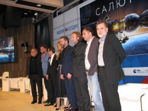 "Съемочная группа фильма ""Салют-7"" на пресс-конференции (Фото Юлии Руденко)"