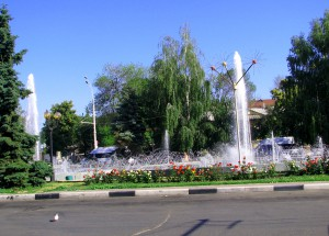 Привокзальный фонтан в Тамбове. Фото - Юлия Руденко.