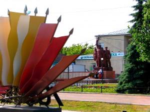 Вечный огонь в Романовке. Фото Юлии Руденко.