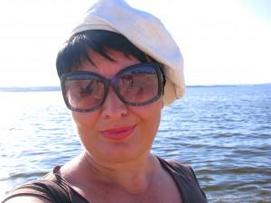 Юлия Руденко на Волге. Селфи.