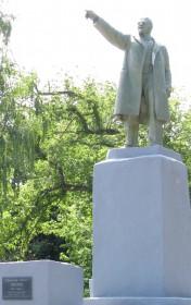 Памятник Владимиру Ленину В Уварово Тамбовской области. Фото Юлии Руденко.